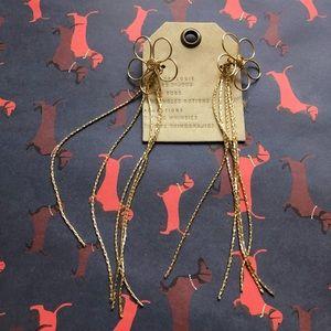 NWT Anthropologie floral tassels earrings